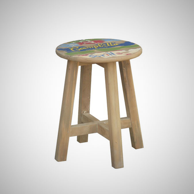 Billboard Wooden Stool