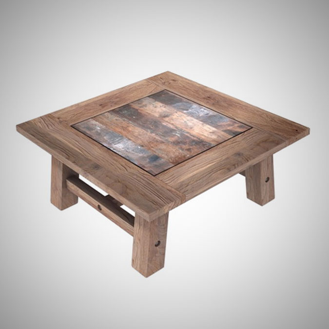 Rust Teak Coffe Table