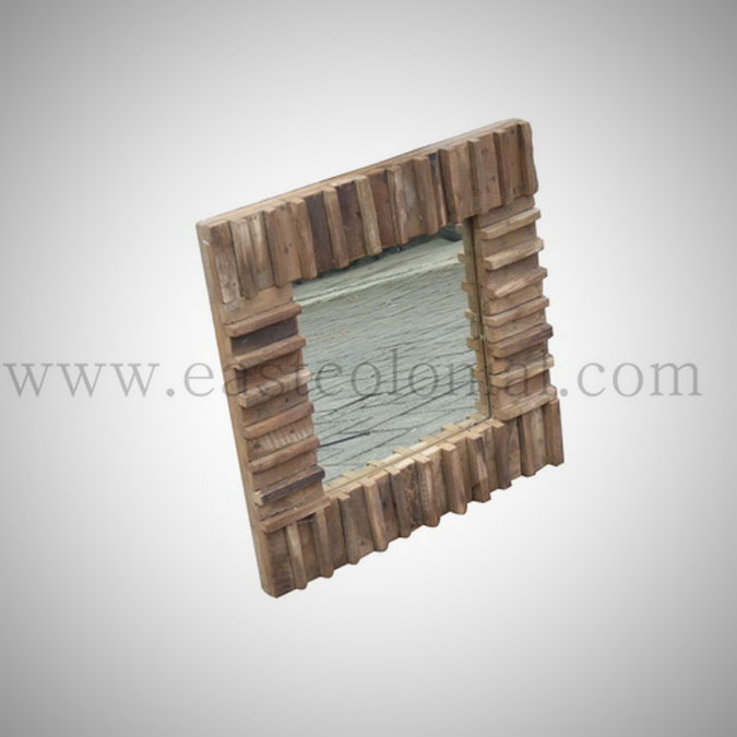 Rust Teak Mirror Small