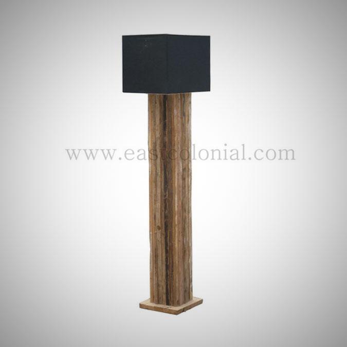 Rust Teak Standing Lamp