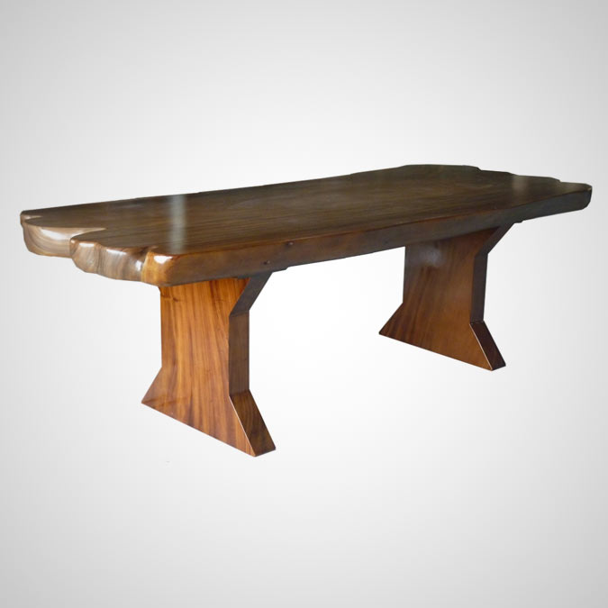 SUAR TABLE WOODEN LEG NATURAL END