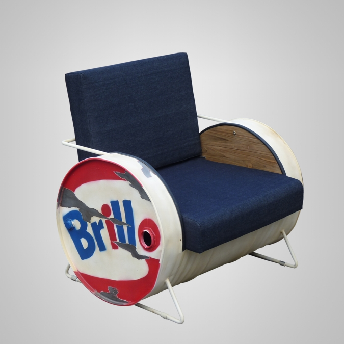 Barrel Sofa 1 Seater