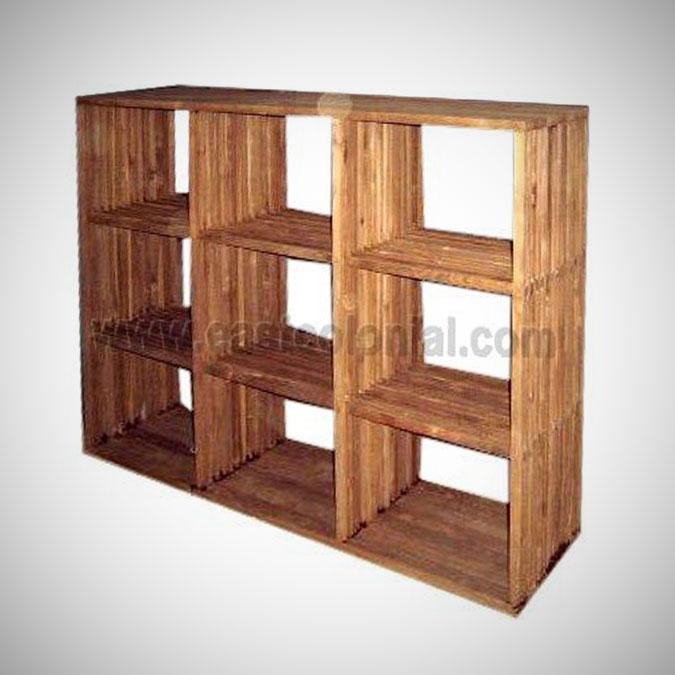 Slats Library Horizontal 9 Shelves