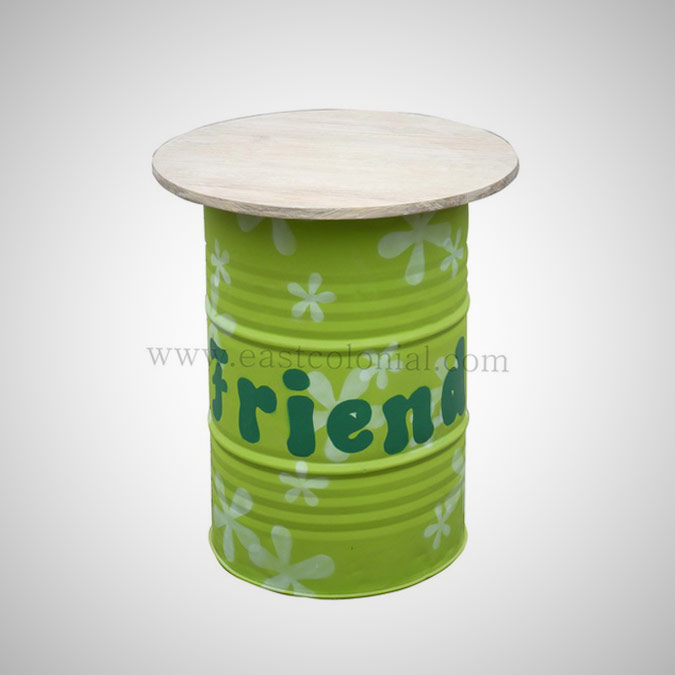Barrel Bar Table Green