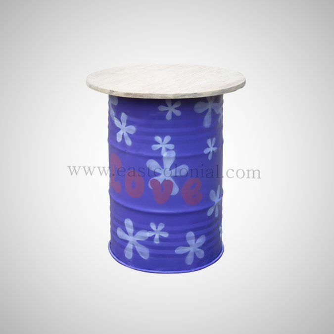 Barrel Bar Table Purple
