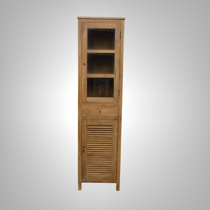 CABINET LOUVRE 1 DOORS 1 DRAWER 1 GLASS DOORS