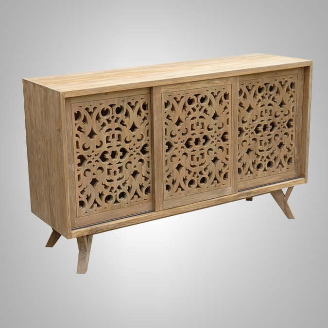 Carving Chest 3 Sliding Doors