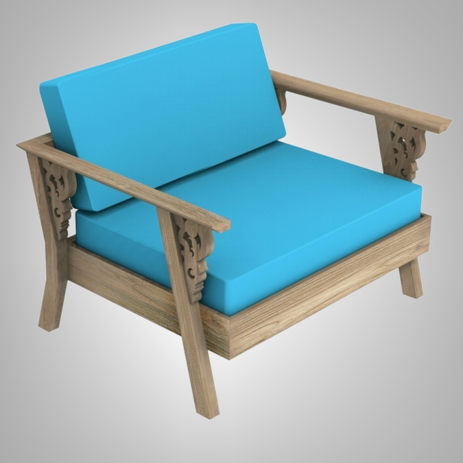 Carving Sofa 1 Seater