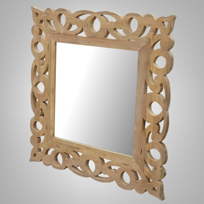 Carving Square Mirror