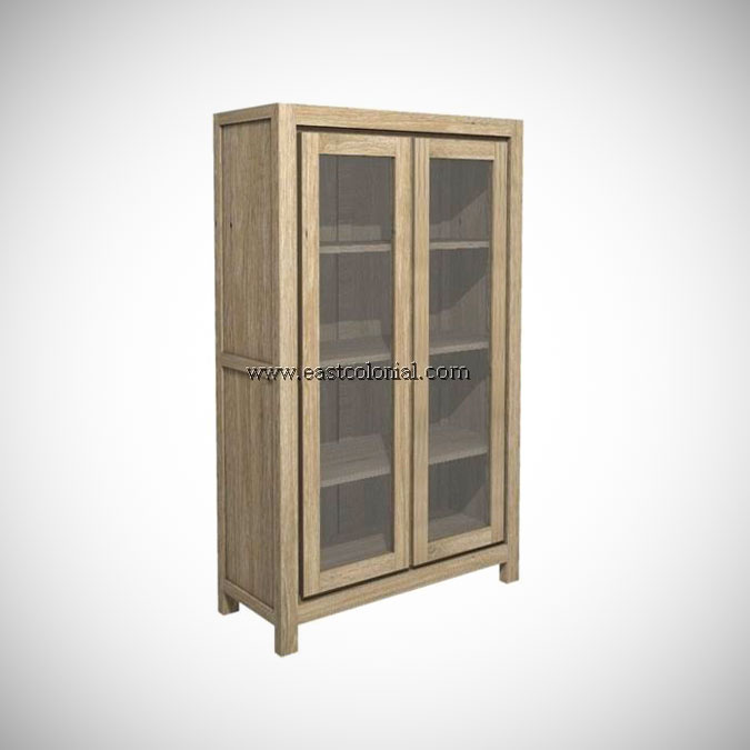 Solo Cupboard 2 Glass Doors