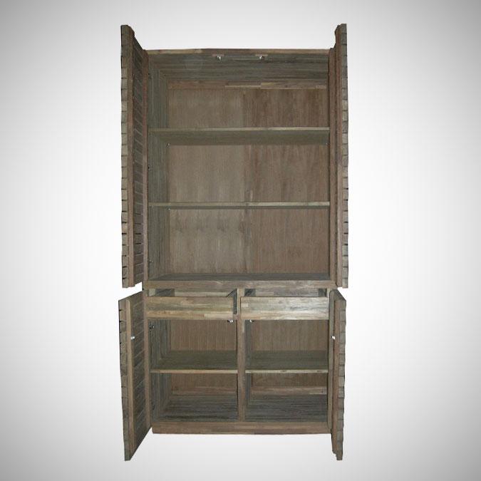 Slat Armoire w 4 Doors