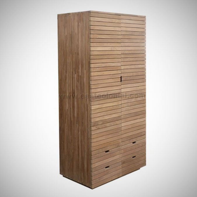 Slat Armoire 4 Drawers