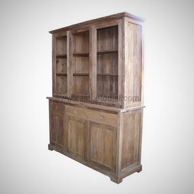 Herman Cupboard 3 Glass Doors 3 Drawers 3 Wooden Doors