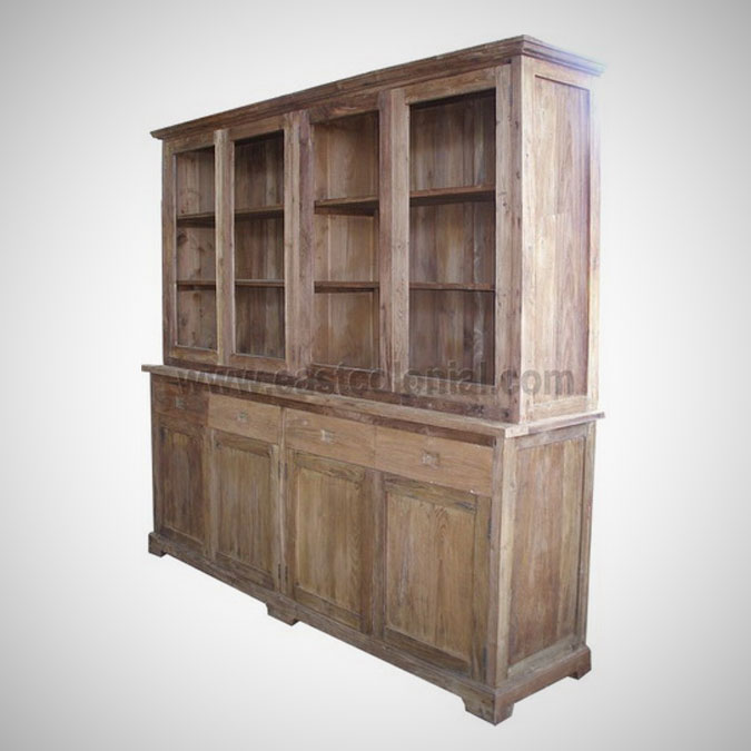 Herman Cupboard 4 Glass Doors 4 Drawers 4 Wooden Doors