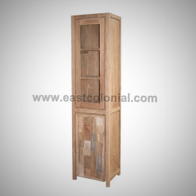 Mozaik Cupboard 1 Glass Doors 1 Wooden Doors