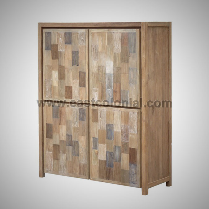 Mozaik Cupboard 4 Wooden Doors