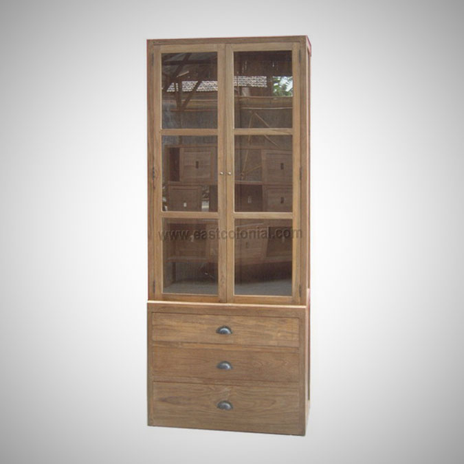 Mandarin Cupboard 2 Doors with 3 Drawers