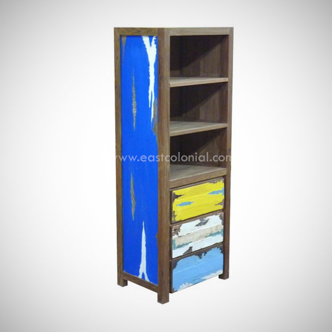 SAMUDRA SMALL CUPBOARD 3 DRAWERS 3 OPEN SHELF