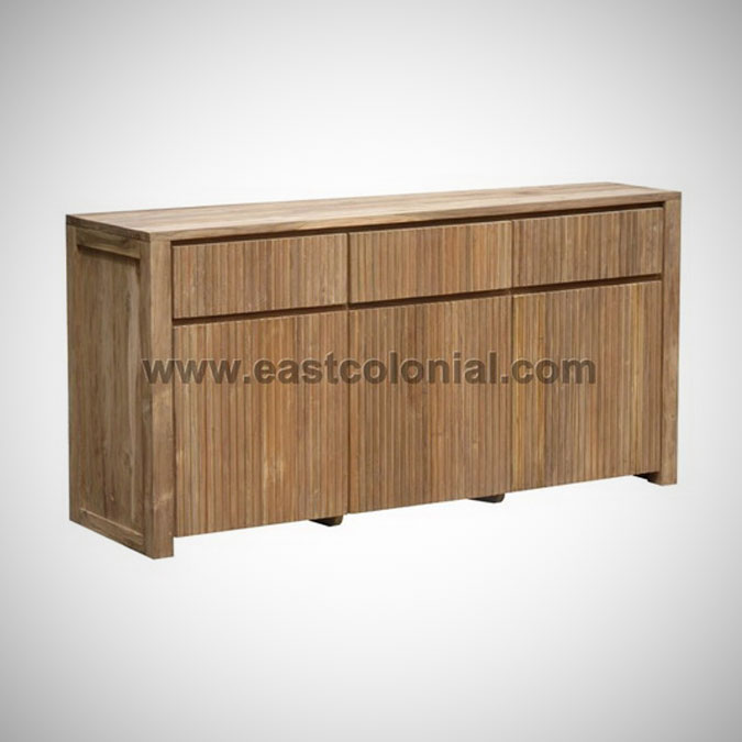 Groove Chest With 3 Doors 3 Drawers