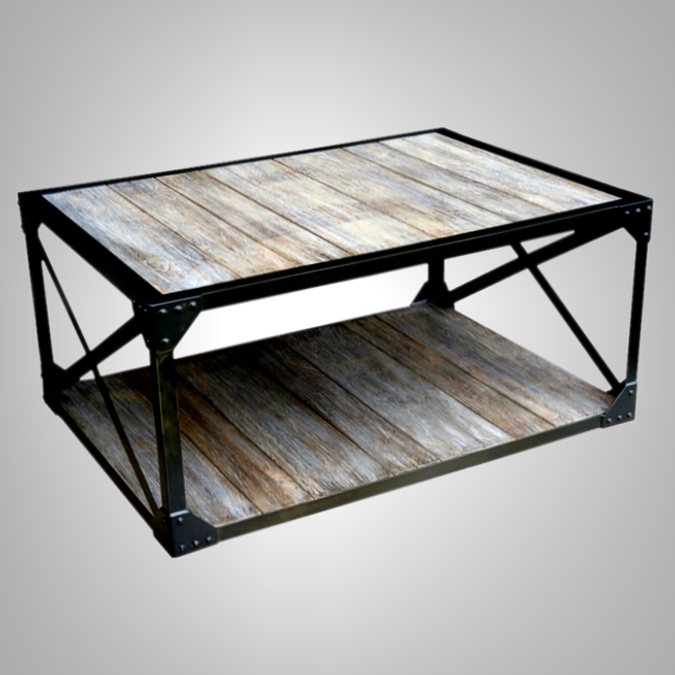 Coffee Table 2 Levels with Iron