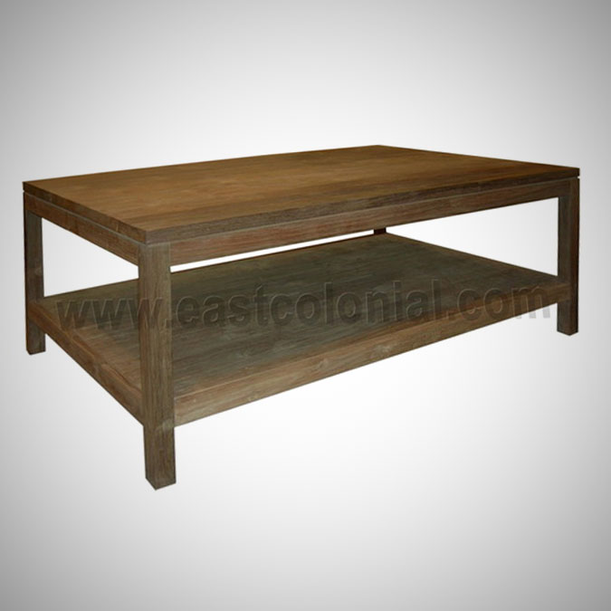 Slat Coffee Table Small with Shelf