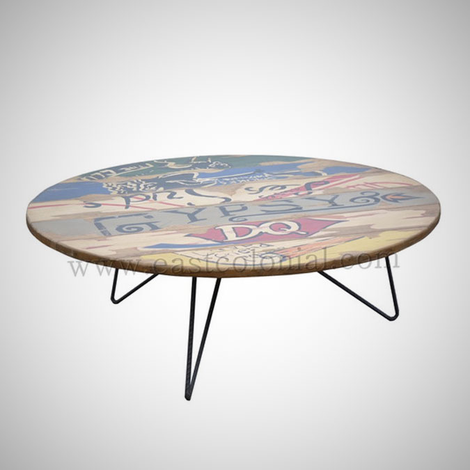 Billboard Round Coffee Table