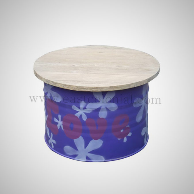 Barrel Coffee Table Purple