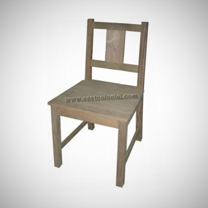 Rust Teak Side Chair