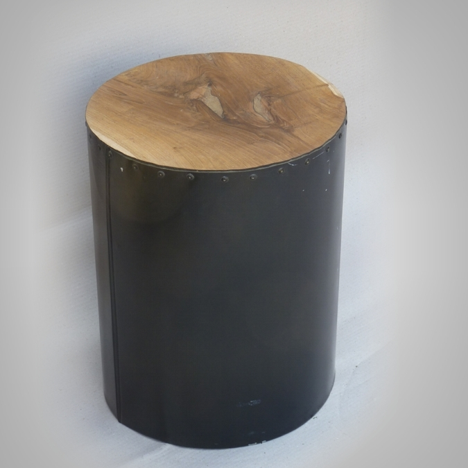 Drum Stool Black