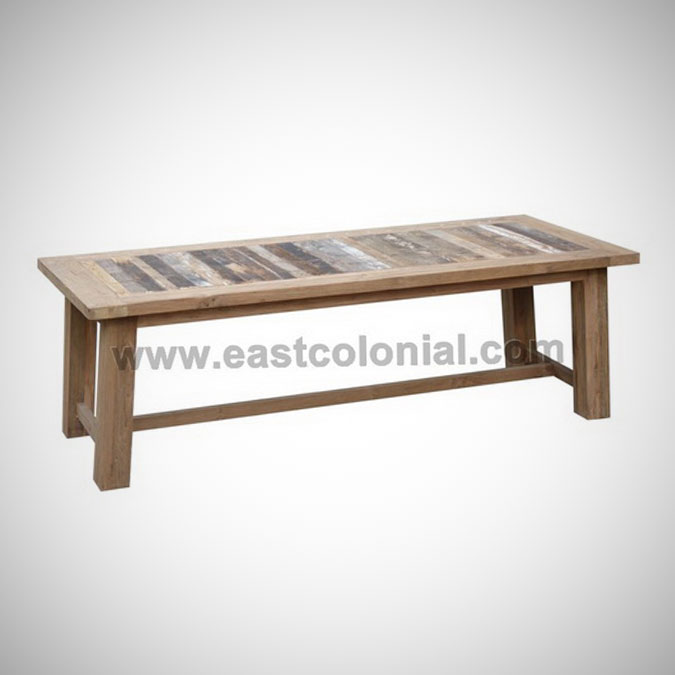 Rust Teak Dining Table