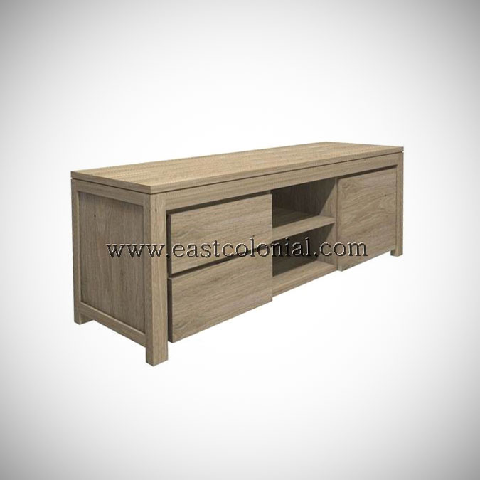 Solo TV Rack 1 Door 2 Drawers