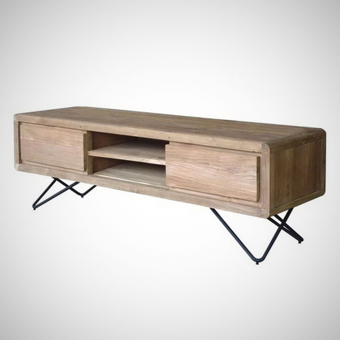 De Breeze TV Rack 2 Drawers