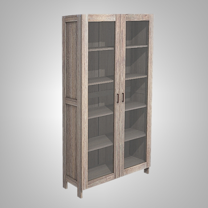 Java Cupboard 2 Glass Doors