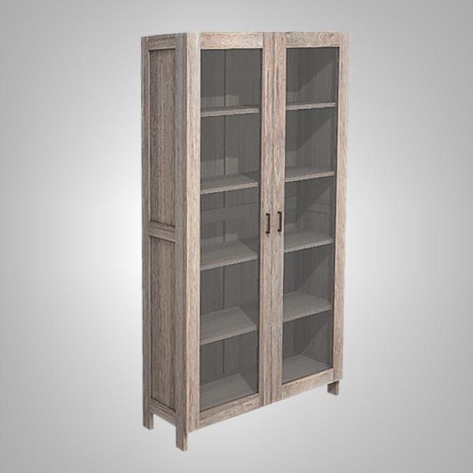 Java Cupboard 2 Glass Doors