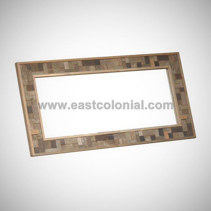 Rust Teak Mirror Rectangular