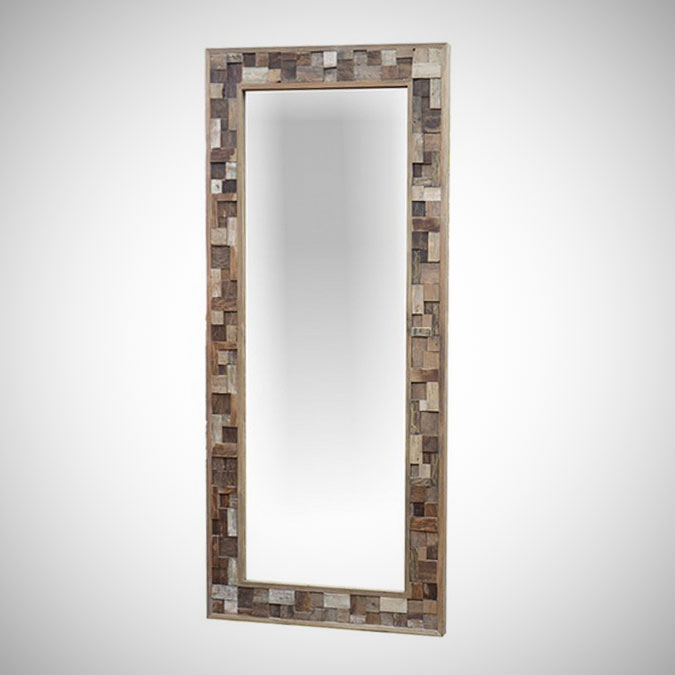 Rust Teak Mirror Rectangular 200