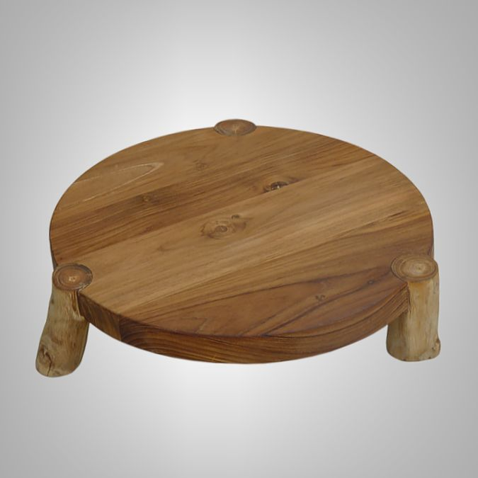 Round Chopping Board with 3 Legs