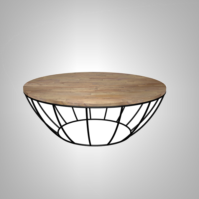 ROUND COFFEE TABLE WITH IRON