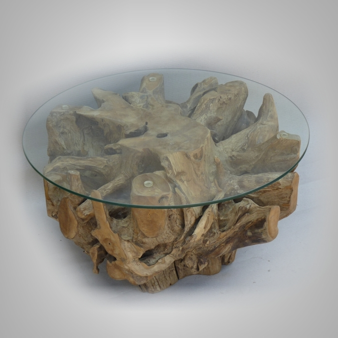 Round root coffee table