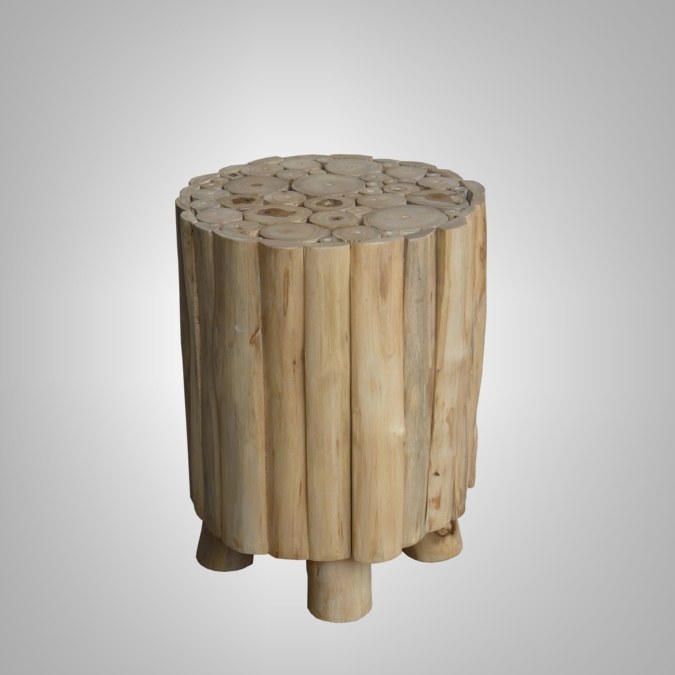 ROUND STICK STOOL TOP