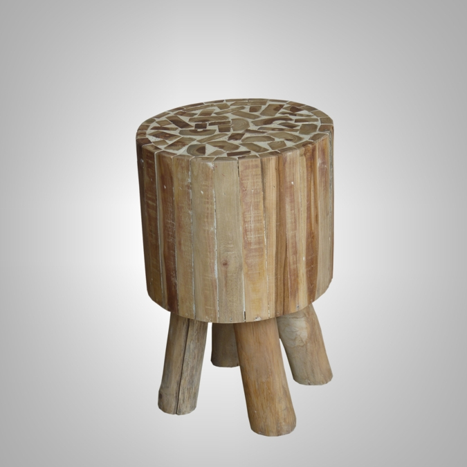 ROUND STOOL WITH CEMENT