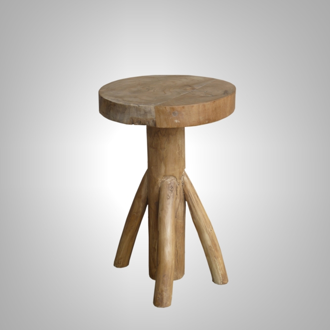 ROUND STOOL WITH PANG LEG