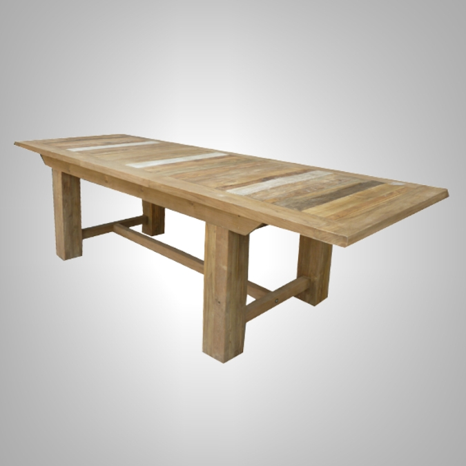 Rust Teak Dining Table Extension- Open