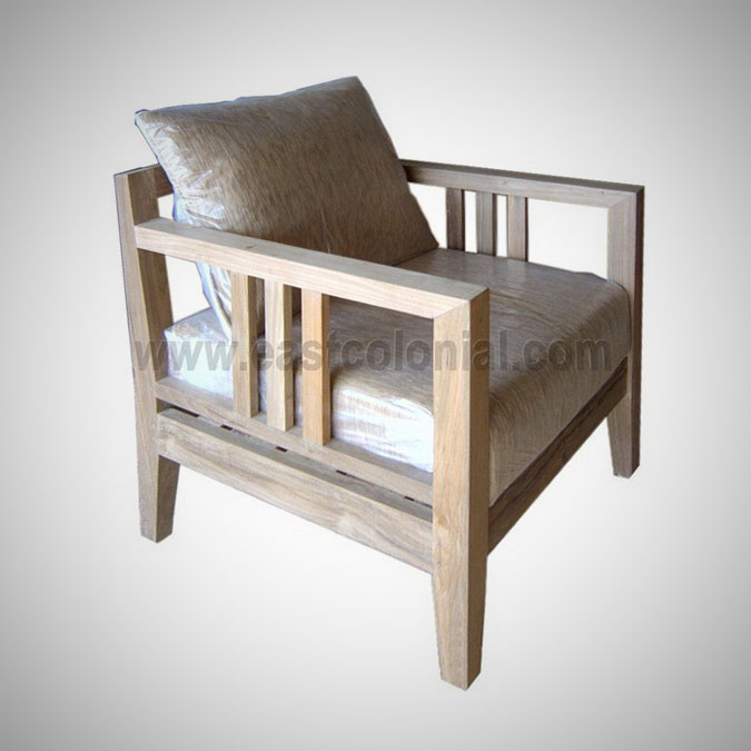 Slat Sofa 1 Seater (incl-cushion)