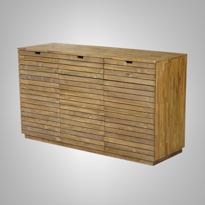 Slat Dressoir 3 Doors 3 Drawers