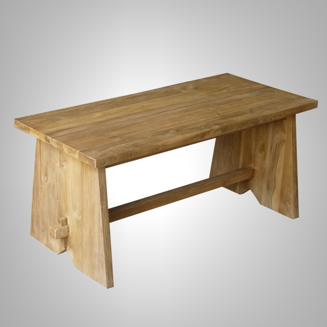 Large Wood Dining Benches