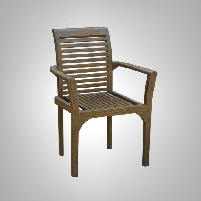 STACKING CHAIR WITH SLATS