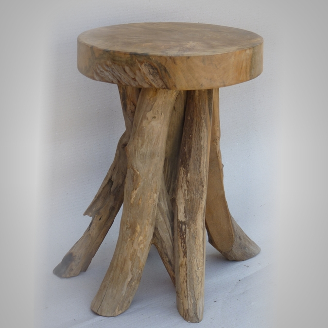 Stool old branch wood