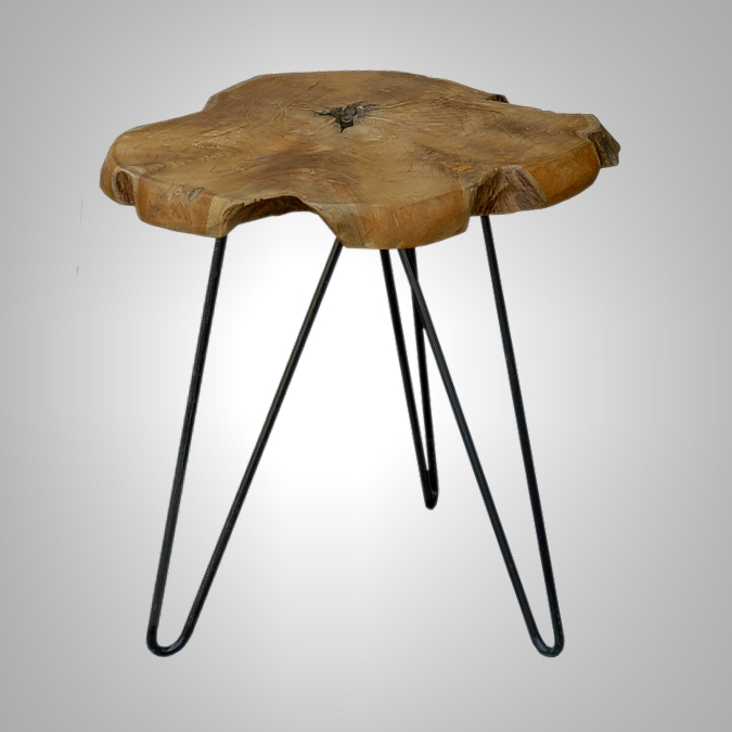 STOOL ORGANIC T4CM WITH IRON LEG