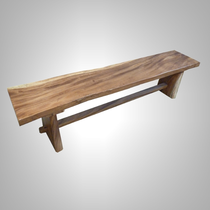 Suar Bench with Natural Edging
